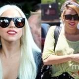 Lady Gaga y Miley Cyrus apuestan por los tonos rubios para su pelo