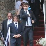 Carles Puyol y Gerard Piqu� en la boda de Andr�s Iniesta y Anna Ortiz