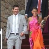 Leo Messi y Antonella Roccuzzo en la boda de Andr�s Iniesta y Anna Ortiz