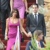 Cesc F�bregas y Daniella Semaan en la boda de Andr�s Iniesta y Anna Ortiz