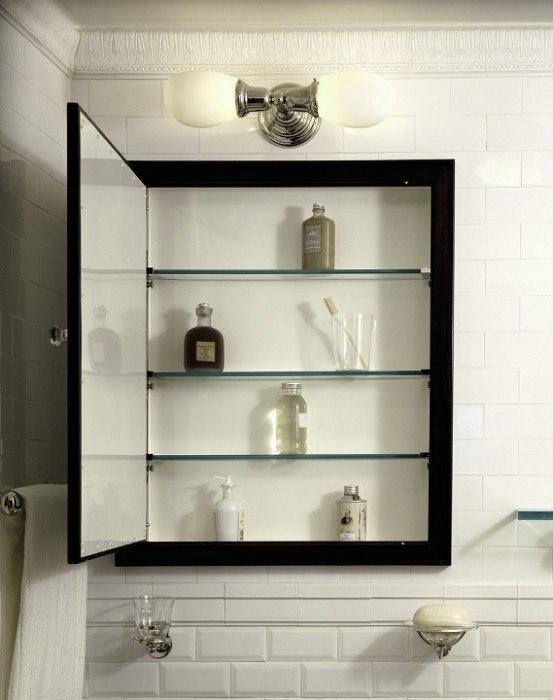 Armario Baño Pequeno:Armario de obra con espejo, ideal para baños pequeños