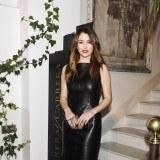 Blanca Su�rez con vestido de cuero negro
