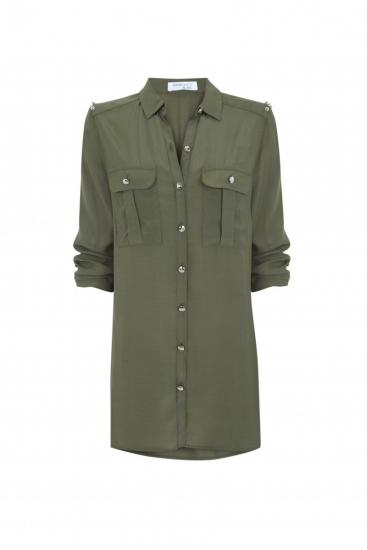 Vestido verde militar para primavera 2013