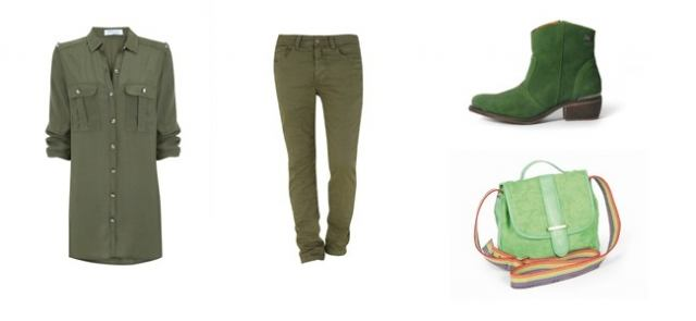Tendencia look verde para primavera 2013