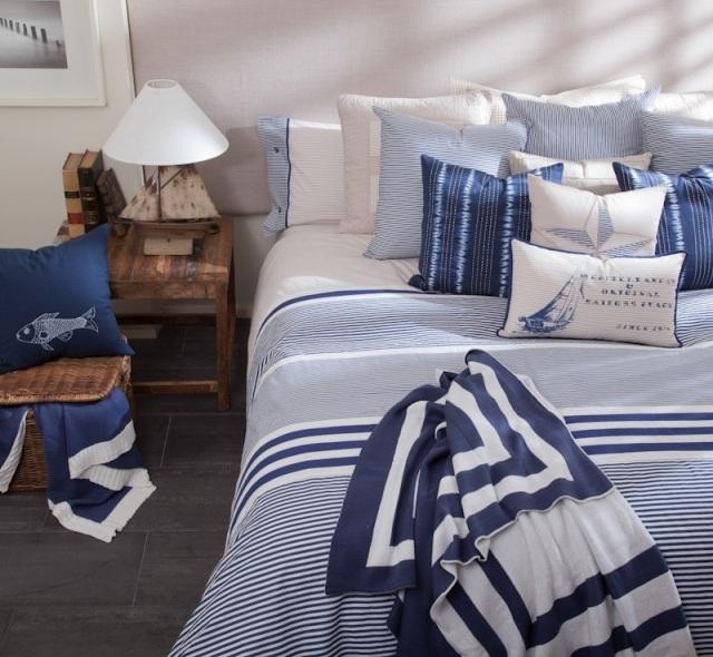 El estilo marinero en tu ropa de hogar para la primavera - Ropa de cama textura ...