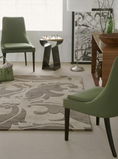 salones con alfombras para diferenciar espacios en las casas pequeas