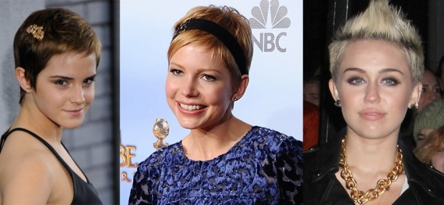emma watson michelle williams y miley cyrus son algunas de las celebrities que lucen pelo