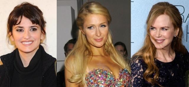 Penélope Cruz, Paris Hilton y Nicole Kidman representan a la mujer morena, rubia y pelirroja