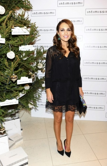 Paula Echevarría Impresionante Con Un Vestido Negro De Encaje