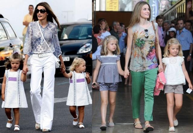 La princesa Letizia ejerce de madraza con las infantas