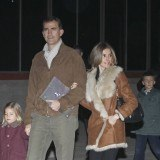 La princesa Letizia con look casual junto al pr�ncipe Felipe
