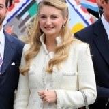 Stephanie de Lannoy se decant� por un traje chaqueta para su ceremonia civil
