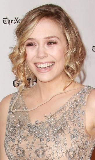 "Elizabeth Olsen luciendo un ""falso bob"""