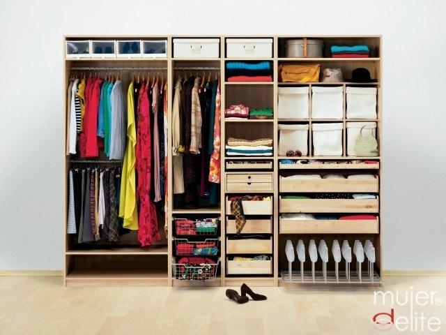 Cmo organizar el armario para ahorrar espacio mujerdeelite - Como organizar armarios ...