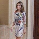 La princesa Letizia tambi�n apuesta por las minifaldas para sus recepciones en solitario