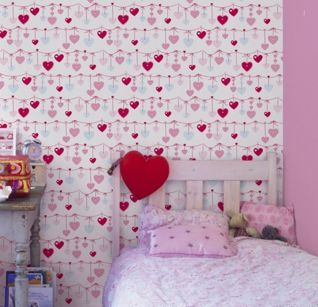 Combinar papel pintado y pintura en habitaciones - Pintura habitaciones infantiles ...