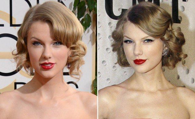 El falso bob de Taylor Swift, su peinado fetiche para brillar