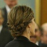 El recogido trenzado de la reina Letizia