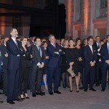 Don Felipe y do�a Letizia durante la celebraci�n de las bodas de plata de Antena 3