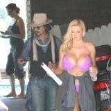 Johnny Depp y la modelo Jordan Carver son compa�eros de trabajo