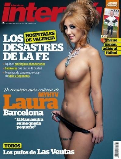 La revista Intervi� con Laura Barcelona en la portada