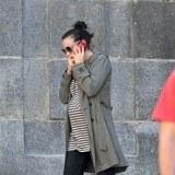 Leonor Watling durante el embarazo de su segundo hijo por las calles de Madrid