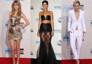 Taylor Swift, Rihanna y Miley Cyrus, deslumbrantes en los American Music Awards