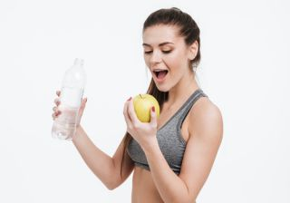 Dieta deportiva para definir mujer