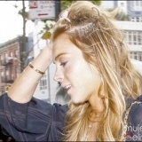 Lindsay Lohan luce extensiones