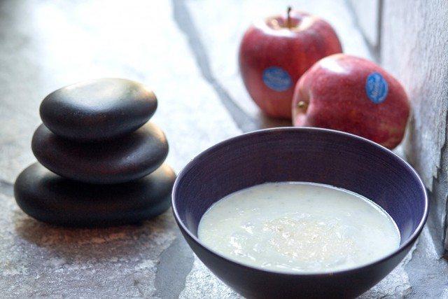Foto Exfoliante corporal casero de manzana para una piel suave y rejuvenecida