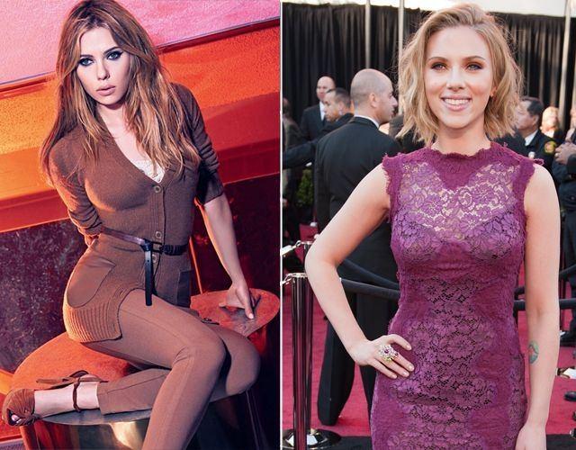 Foto Los pechos de Scarlett Johansson antes y después