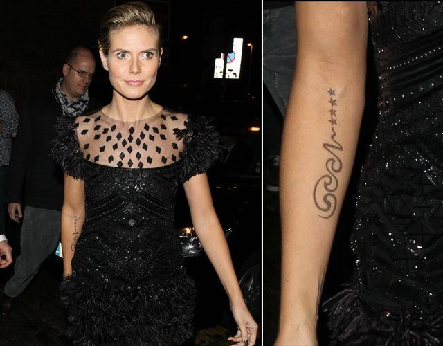 Foto Heidi Klum y su sentimental tatuaje