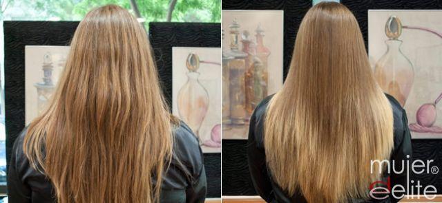 Foto Antes y después, mechas californianas