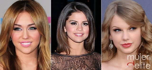Foto Miley Cyrus, Selena Gómez y Taylor Swift