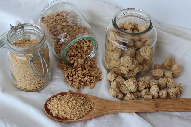 Foto Soja texturizada, la mejor fuente de proteínas vegetales