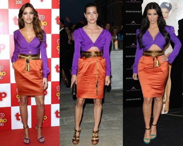 Foto Sara Carbonero, Carlota Casiraghi y Kim Kardashian, con el mismo vestido