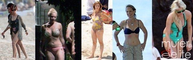 Foto Las famosas menos sexys en bañador