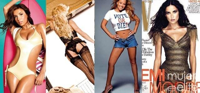 Foto Las celebrities modelan su cuerpo con Photoshop