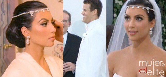 Foto Kim Kardashian y Kris Humphries celebraron una excéntrica boda en blanco y negro