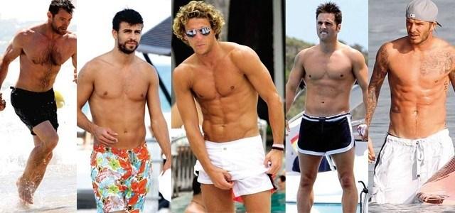 Foto Gerard Piqué, David Bustamante, Diego Forlán, David Beckham y Hugh Jackman: los chicos más sexys de la playa