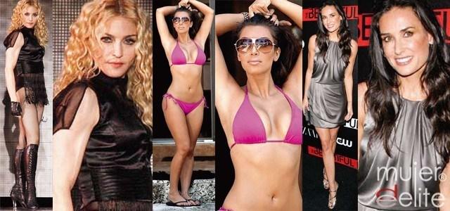 Foto Madonna, Kim Kardashian y Demi Moore son las famosas más retocadas