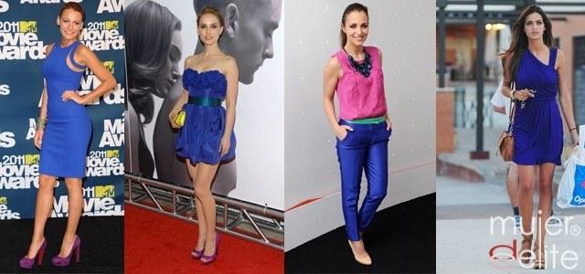 Foto Las celebrities apuestan por el azul eléctrico