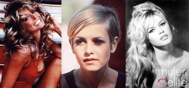 Foto Brigitte Bardot, Farrah Fawcett y la modelo Twiggy
