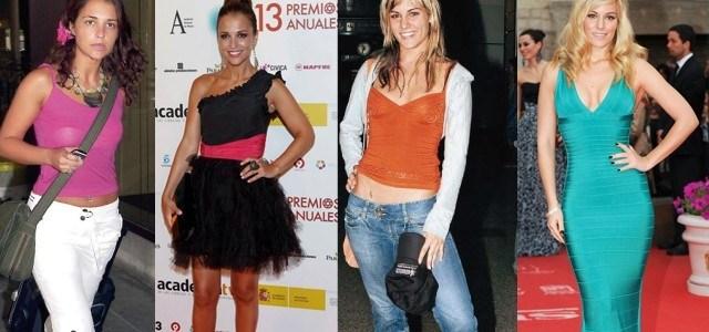 Foto Edurne y Paula Echevarría: el antes y después