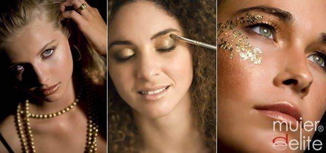 Foto Maquillaje dorado