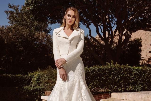 Foto Los vestidos de varias piezas son la mejor opción para una boda de invierno