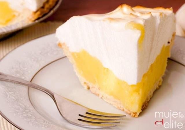 Foto Tarta merengada de limón, postre bajo en calorías y apto para la dieta Dukan