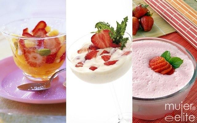 Foto Postres con fresas