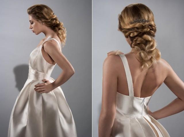 Foto La trenza combinada con ondas en recogidos y semirecogidos, tendencia en peinados para novias