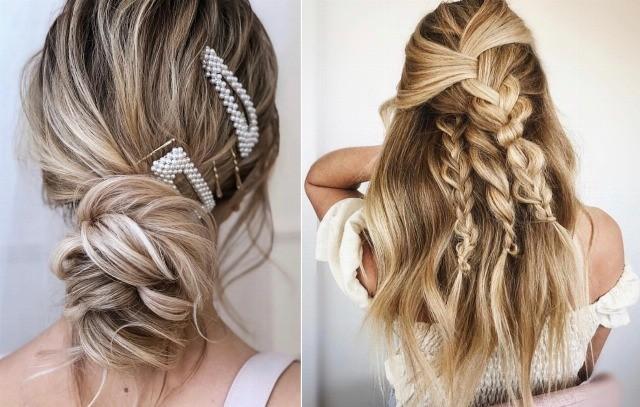 Foto Las trenzas y los accesorios joya, tendencia en peinados de novia